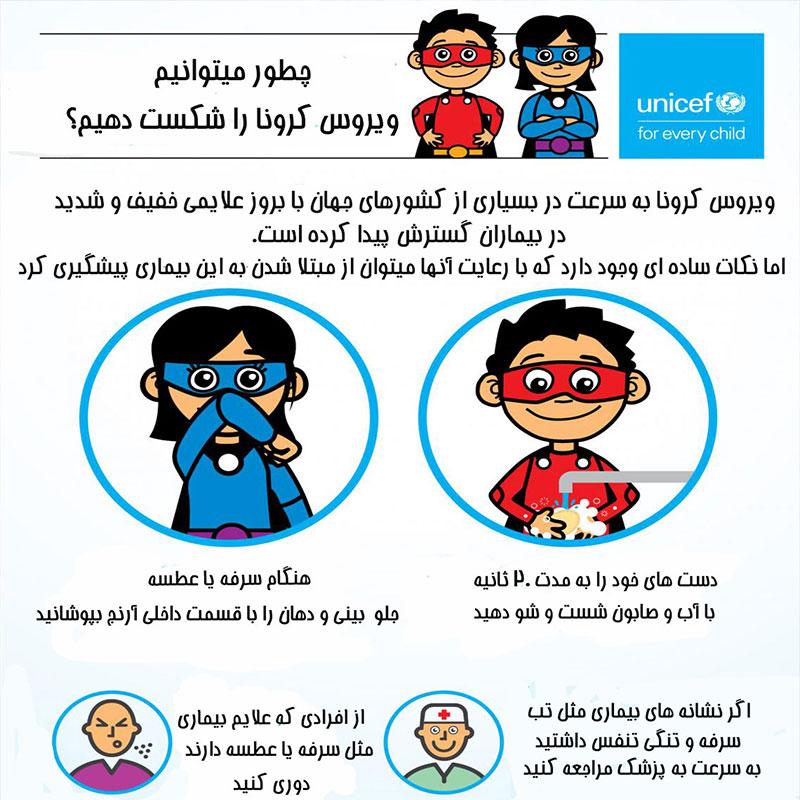 اینفوگرافیگ آموزش کودکان در قرنطینه