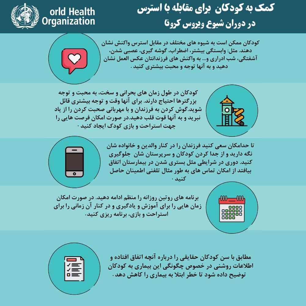 اینفوگرافیگ رفتار با کودکان در قرنطینه